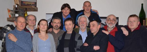 11 des 12 auteurs... Photo : Stéphanie Fuentes (Terri(s)toires)