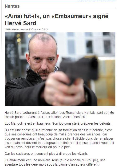 Ouest-France 30 janvier (Photo : Arnaud Jaffré)