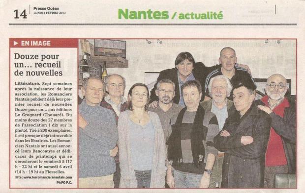 Presse Océan du 4 février 2013
