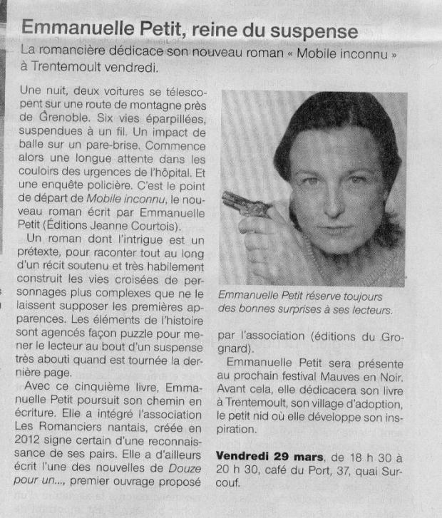 Ouest France Mars 2013