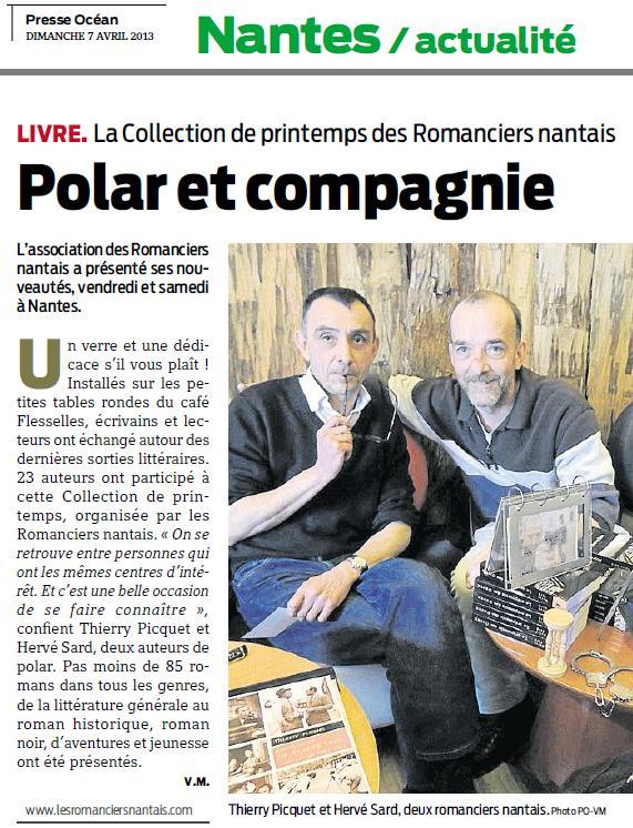 Presse Océan 7 avril 2013