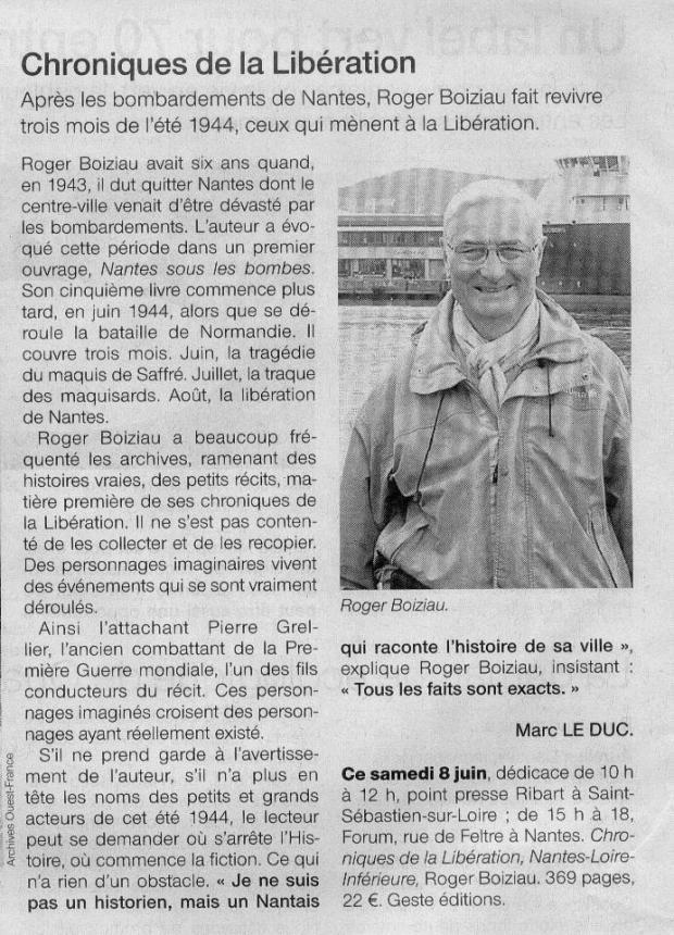 Ouest France 6 juin 2013