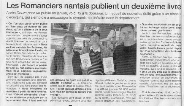 Ouest France juillet 2013